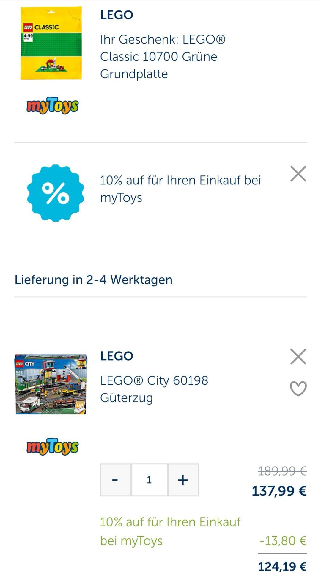 LEGO® City 60198 Güterzug plus Gratis Grundplatte