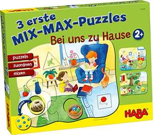 (Amazon Prime) HABA - 3 Erste Mix-Max-Puzzles, Bei uns zu Hause