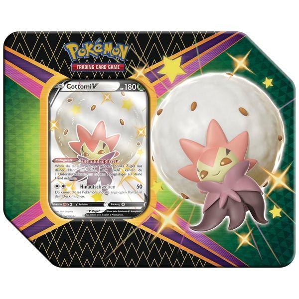 2x Pokémon Schwert und Schild 4.5 Tin Cottomi V