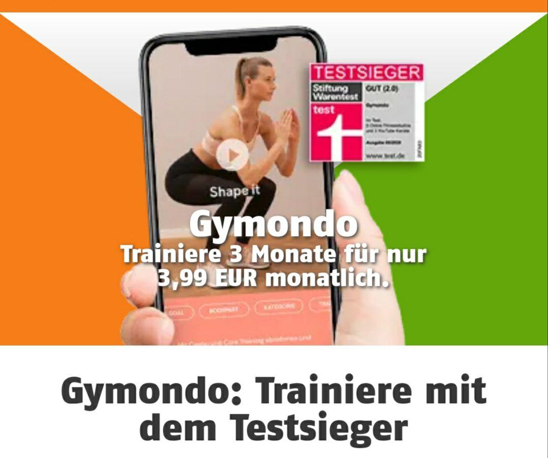 Klarmobil - Gymondo Neujahrsangebot für nur 3,99 €/Monat (für die ersten 3 Monate) *Bestandskunden*