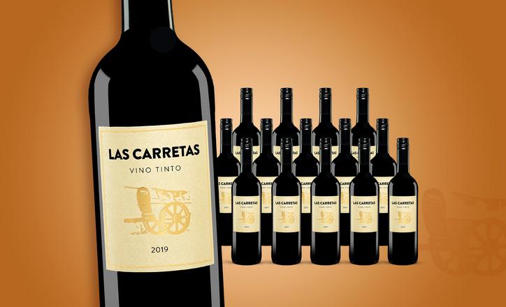 Goldprämierter spanischer Rotwein LAS CARRETAS 2019 für 45,89 Euro (frei Haus)