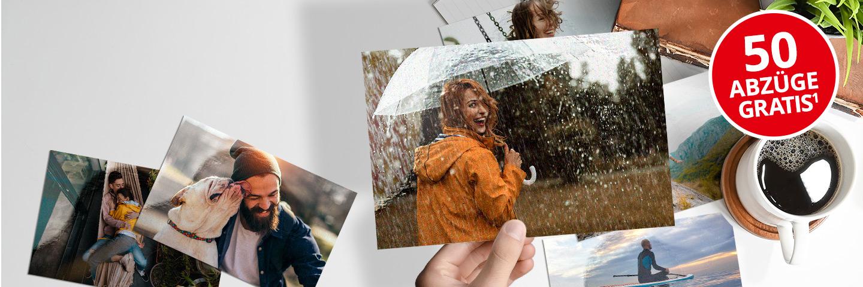 50 Fotoabzüge 10x15 cm geschenkt (nur Versand fällt an)