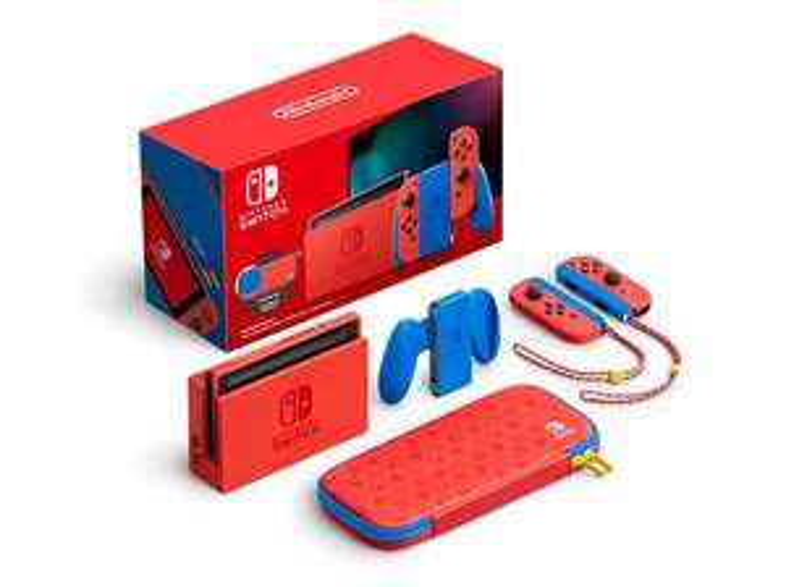[MM & Saturn] NINTENDO Switch Mario Red & Blue Edition Limitiert