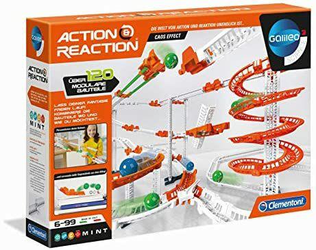 [Amazon Prime] Clementoni 59126 Galileo Science - Action & Reaction Chaos-Effekt, Modellbausatz für eine Kugelbahn