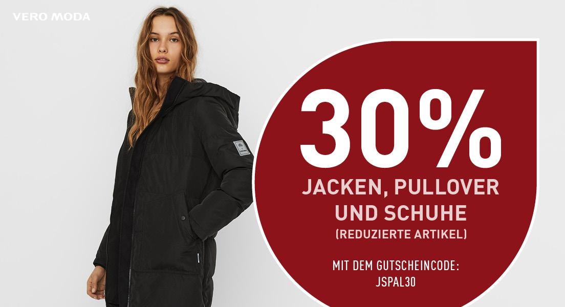 30% auf reduzierte Jacken, Pullover und Schuhe + kostenloser Versand ab 39€