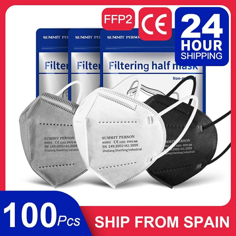 100 FFP2 Masken aus Spanien mit 7 Tage Lieferung mit CE Zeichen und EU Norm