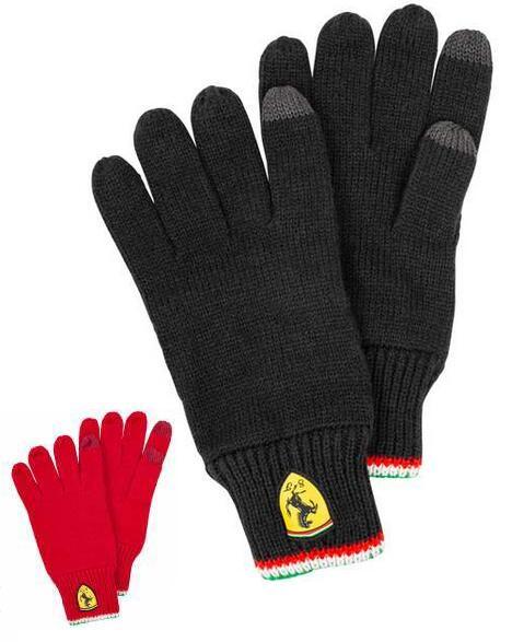 Scuderia Ferrari Strickhandschuhe für 5,99€ + 3,95€ VSK (Für Touchscreen geeignet, In schwarz und rot verfügbar) [SportSpar]