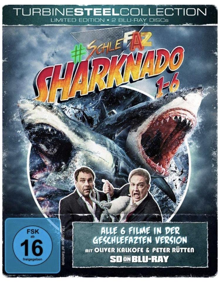 SchleFaZ - Sharknado 1-6 (Limited Edition - Turbine Steel Collection) (SD on Blu-ray) Limitiert auf 1500 Stück.