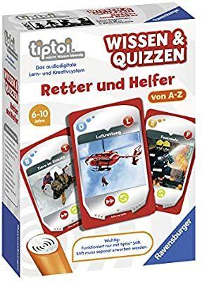 Ravensburger tiptoi 00829 Wissen und Quizzen: Retter und Helfer, Quizspiel für Kinder ab 6 Jahren, für 1-6 Spieler (Prime)