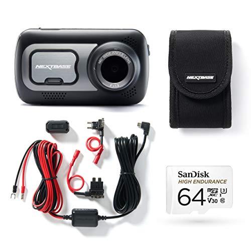 Nextbase 522gw + Rückfahrkamera + Hardwarekit + 64 GB µSD High Endurance dashcam