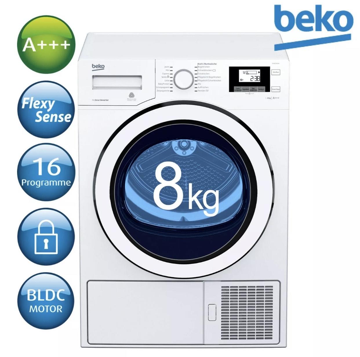 [eBay WOW] Beko Wärmepumpentrockner DH8534GX0 für 444,44€