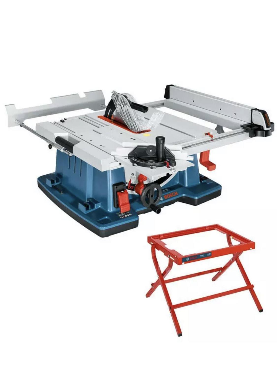 Bosch Professional Tischsäge Tischkreissäge GTS 10 XC + GTA 6000