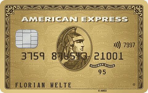 American Express Gold Kreditkarte mit 40.000 MRP