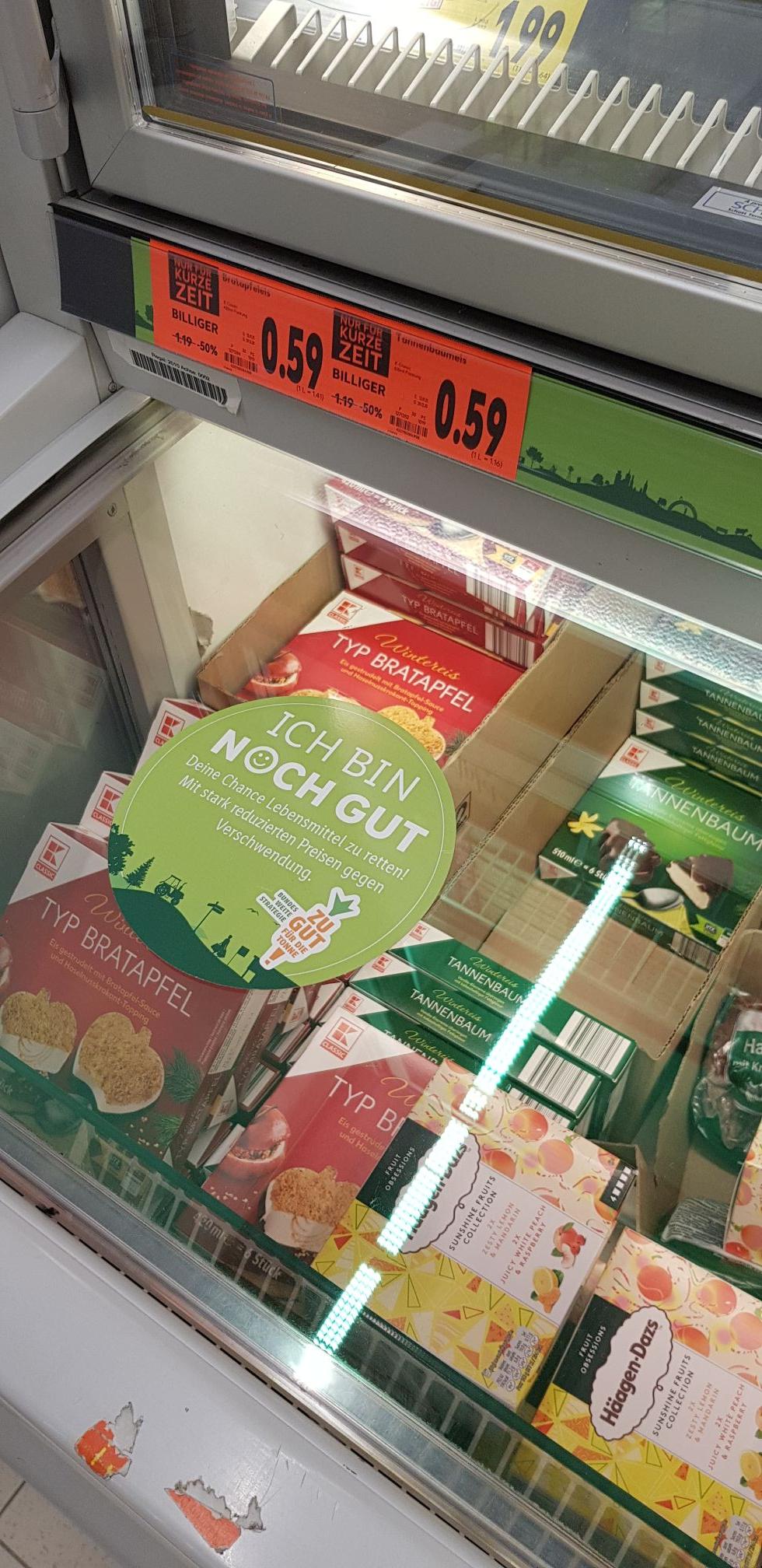 Kaufland [Kreuztal]: Bratapfel- oder Tannenbaumeis (510 ml) für 0,59 €
