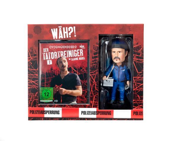 [Thalia] Tatortreiniger DVD Komplett Box mit Wackelkopf-Figur, Diorama & Schwarzlicht-Stift