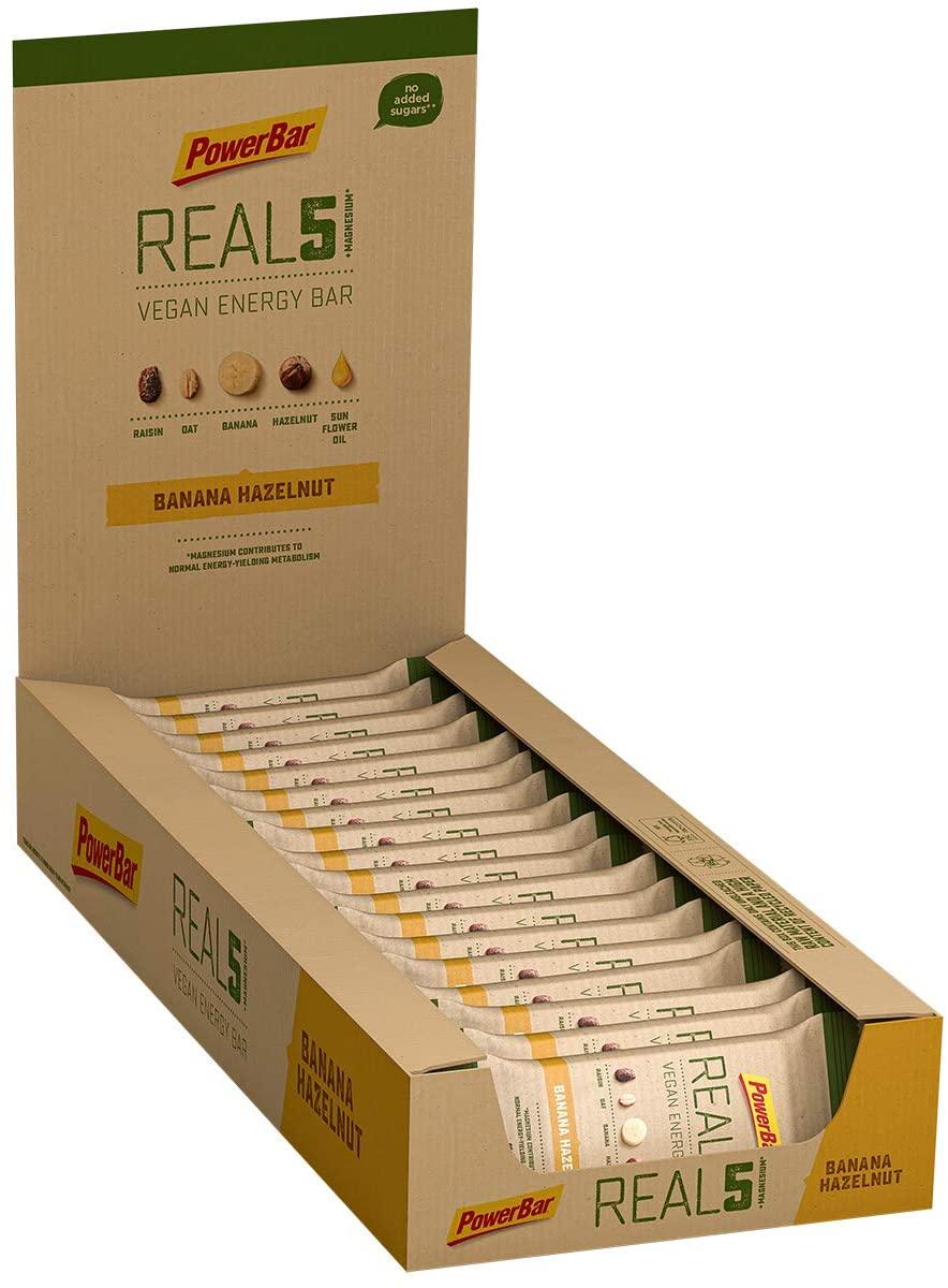 "36x 65g PowerBar Real5 Vegan Energy Bar ""Banana Hazelnut"" (Energieriegel ohne nennenswerte Mengen Protein!)"