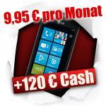 Ca. 50% günstiger als Vergleichspreise: LG Optimus 7 mit brauchbaren Vodafone Vertrag rechnerisch 118,80€