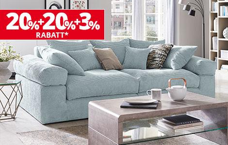 Höffner 20% Rabatt in allen Abteilung + 20% Prozent auf Möbel und Küche - Versandkostenfrei