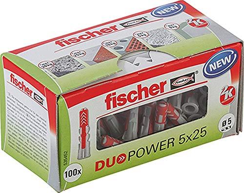 (Prime) fischer DUOPOWER 5 x 25, Universaldübel, 100 Stück