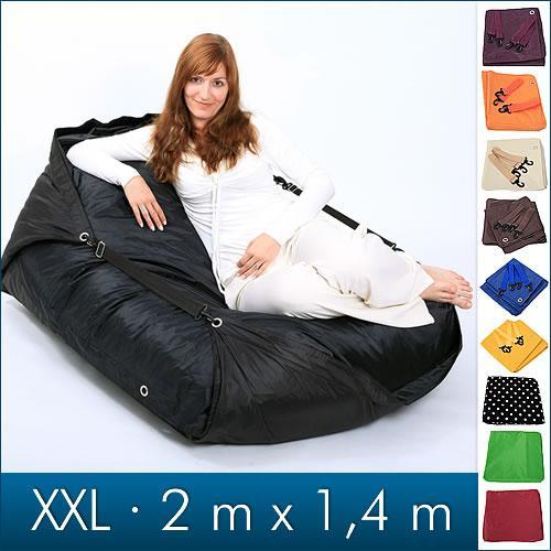 Sitzsack - 200x140 cm 600l - 10 verschiedene Farben