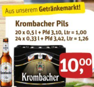 Krombacher Pils,Radler,Hell,Kellerbier,Alkoholfrei,Landbier 20x0,5l und 24x0,33l (Lokal)