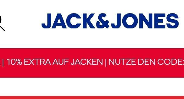 10% Rabatt auf Jack&Jones Jacken zusätzlich