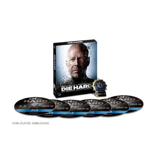 Exklusive Die Hard /  Stirb langsam 1-5 Limited Edition Box mit Polizeimarke auf BluRay vorbestellbar @Amazon