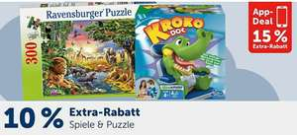 MyToys 10-15% Extra-Rabatt auf Spiele & Puzzles