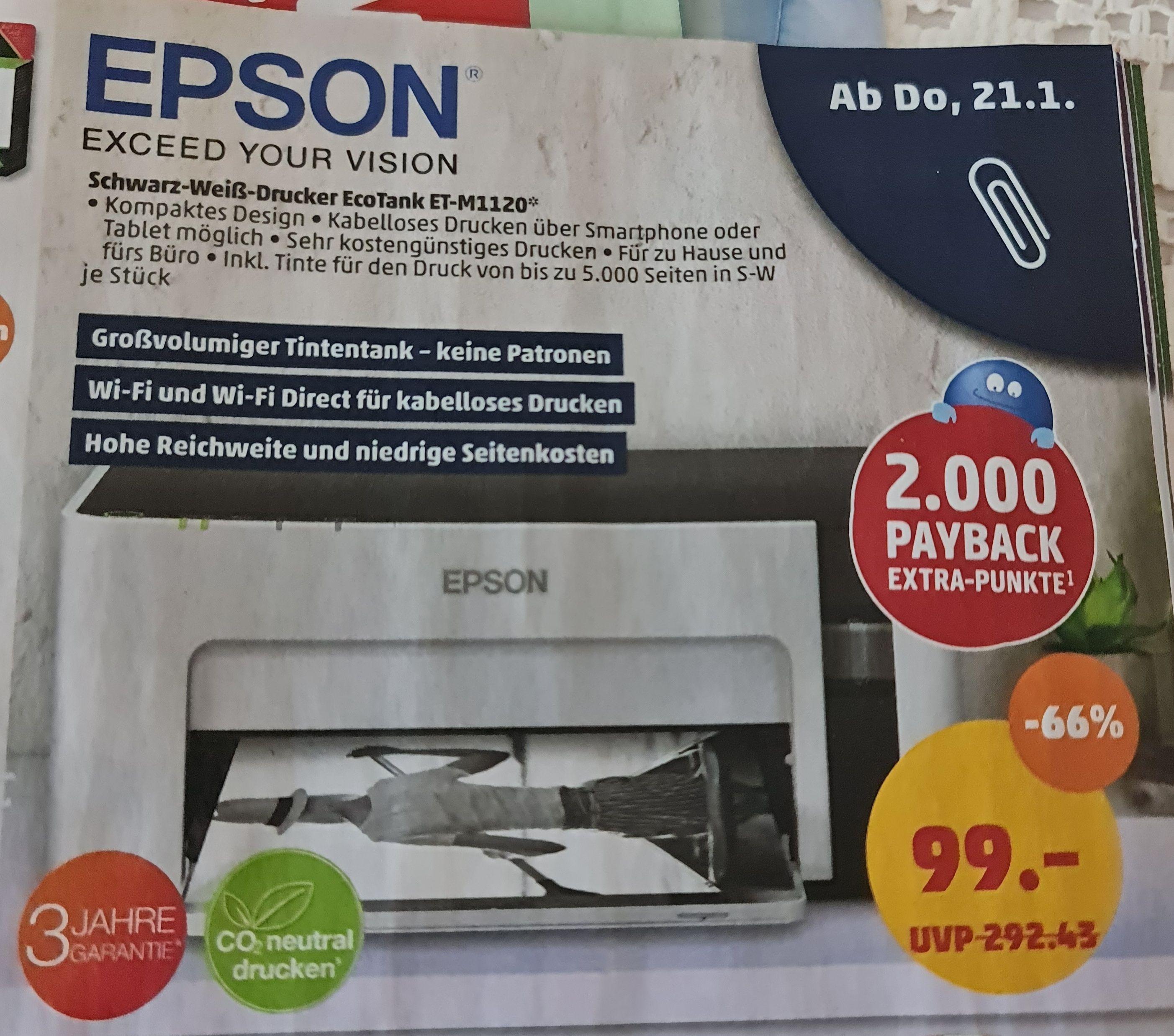 [Penny Markt] EPSON EcoTank ET-M1120 Drucker
