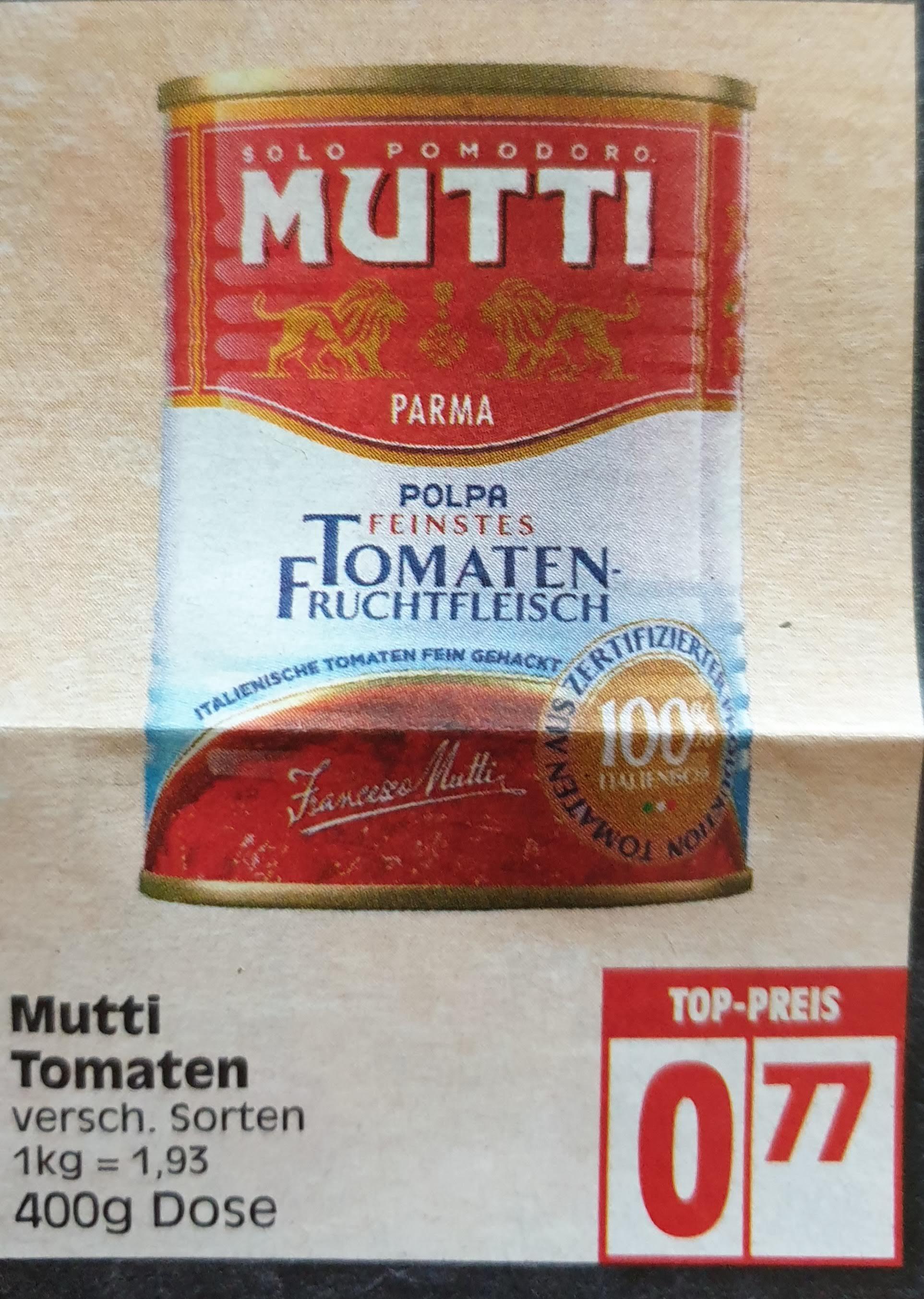 Mutti Dosentomaten, verschiedene Sorten - bei Edeka Minden-Hannover