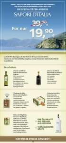 Fratelli Carli: Olivenöl + Balsamico Essig + Ölkaraffe usw. für 19,95€