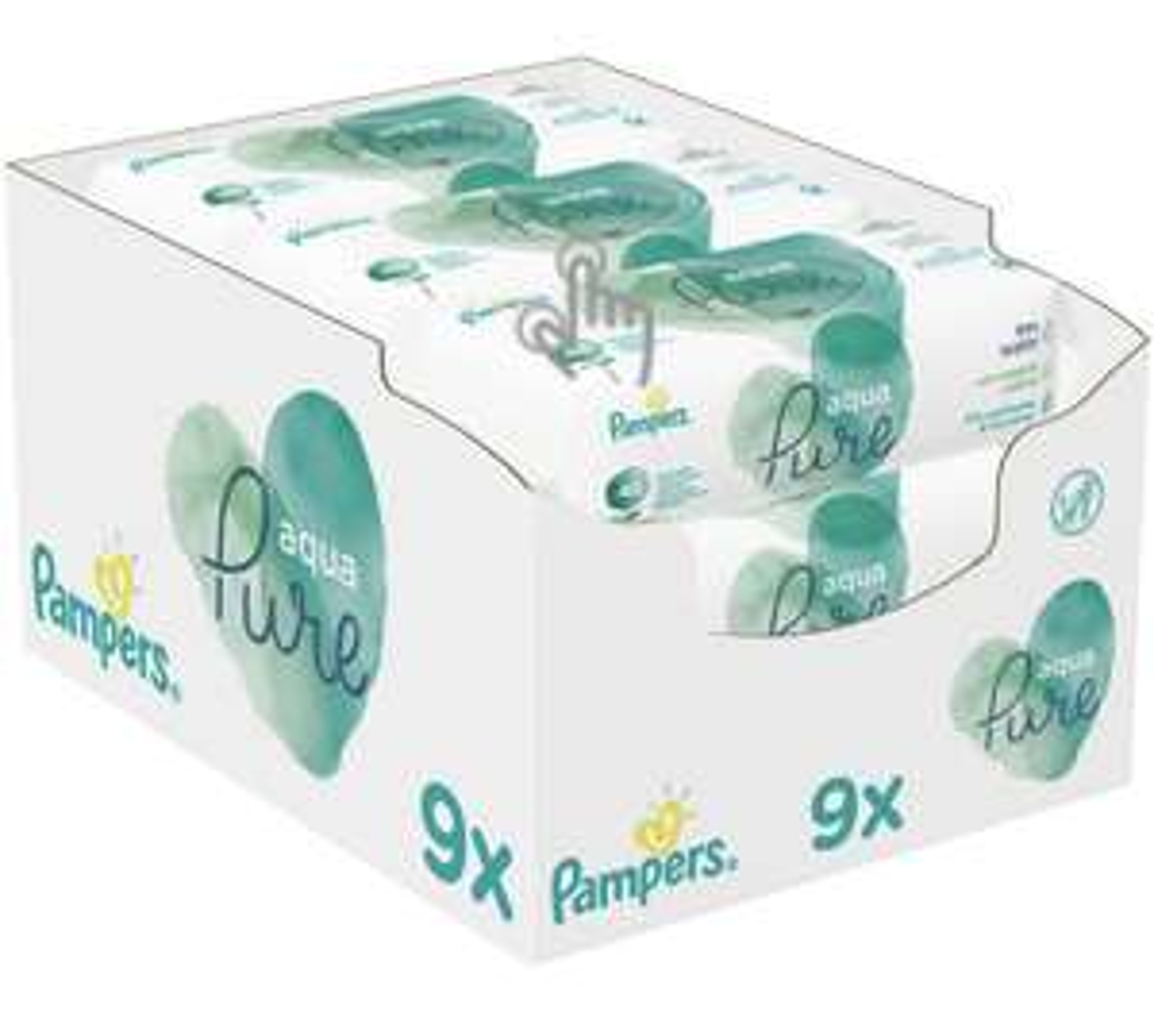 Pampers Pure Aqua Feuchttücher (9x48 Stück)