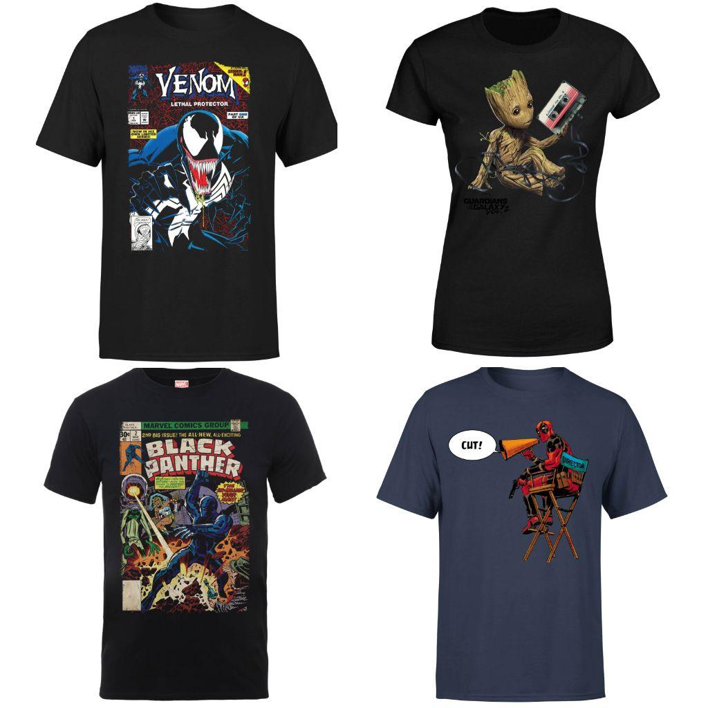 Marvel Bestseller T-Shirts 9,99€ inkl. Versand / Damen & Herren / Auswahl aus 54 T-Shirts