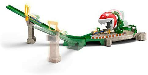 [Amazon Prime] Hot Wheels GFY47 - Mario Kart Piranhapflanzen Rutsche Trackset inkl. 1 Spielzeugauto und weitere