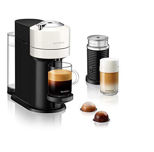 De'Longhi Nespresso Vertuo Next, mit Aeroccino Milchaufschäumer, weiß
