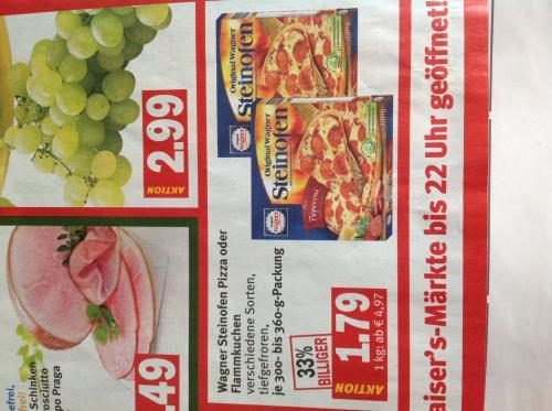 Wagner Steinofenpizza oder Flammkuchen Kaiser's