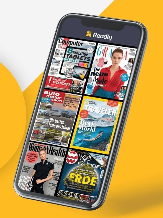Readly   Zwei Monate für 2 Euro   Digitales Zeitschriften Abo   Lockdown Lektüre   Zeitschrift