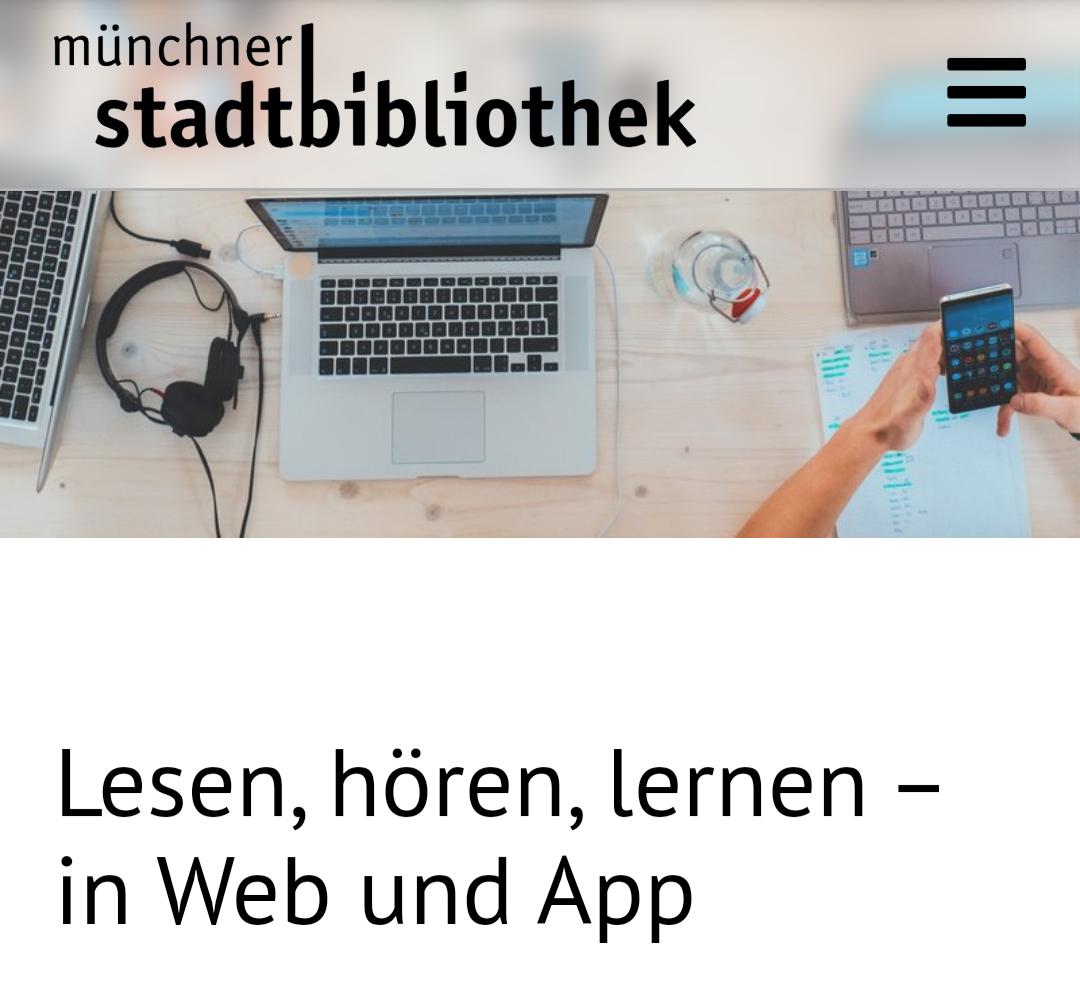 [Lokal] 3 Monate Münchner Stadtbibliothek kostenlos (eBooks Zeitungen Fortbildungskurse)