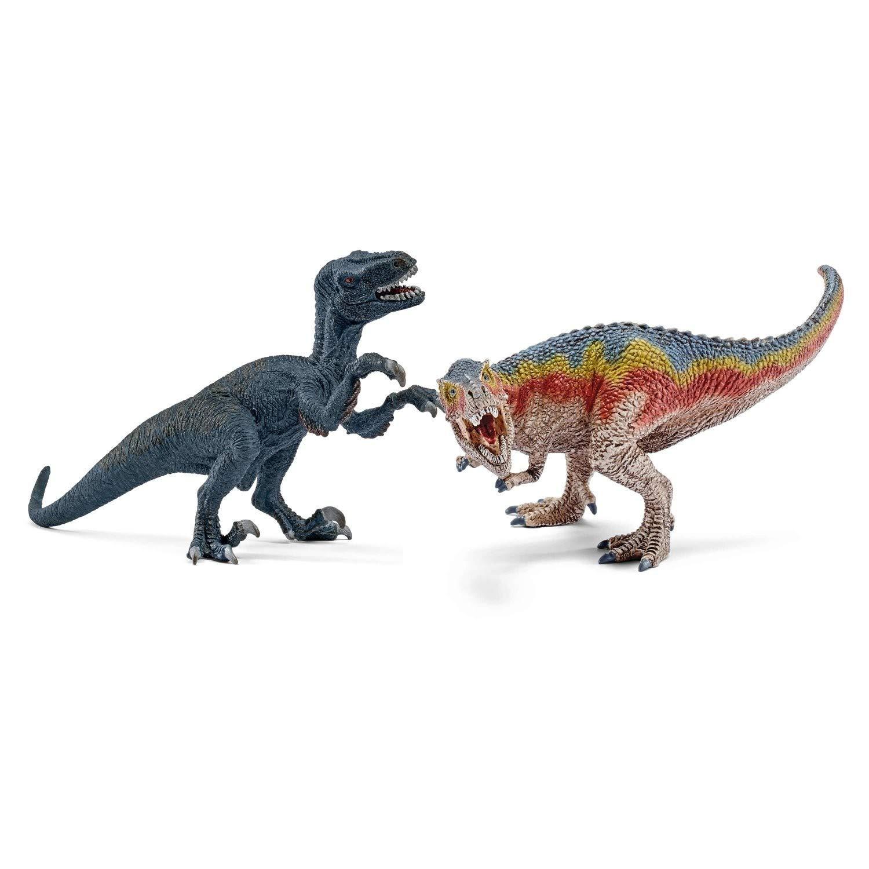 Schleich T-Rex & Velociraptor Set für 9,99 Euro und Flucht auf Quad vor Velociraptor für 19,99 Euro [Globus SB Warenhaus]