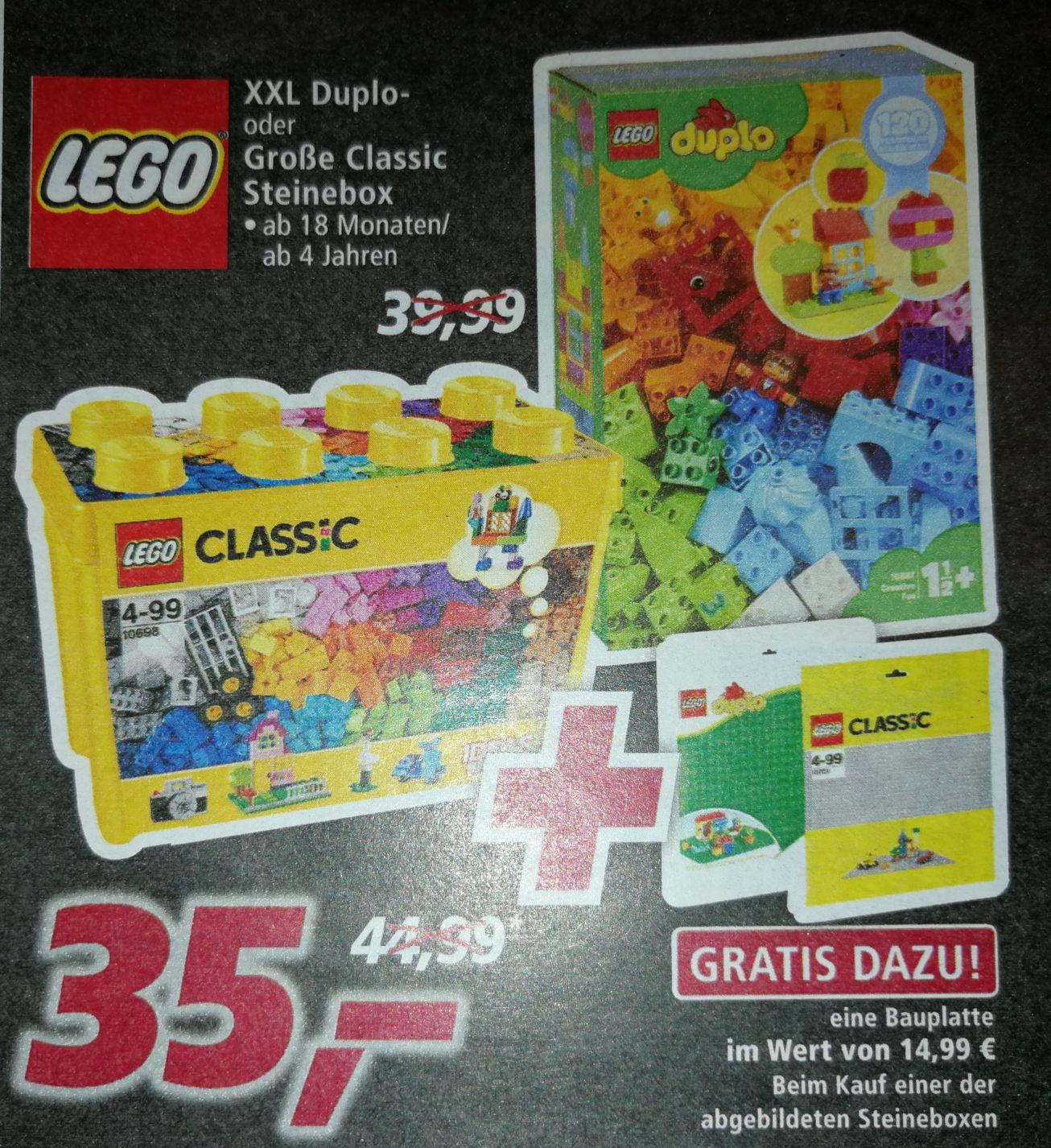 [real-Markt] LEGO Classic oder duplo Steinebox + je 1 Bauplatte gratis