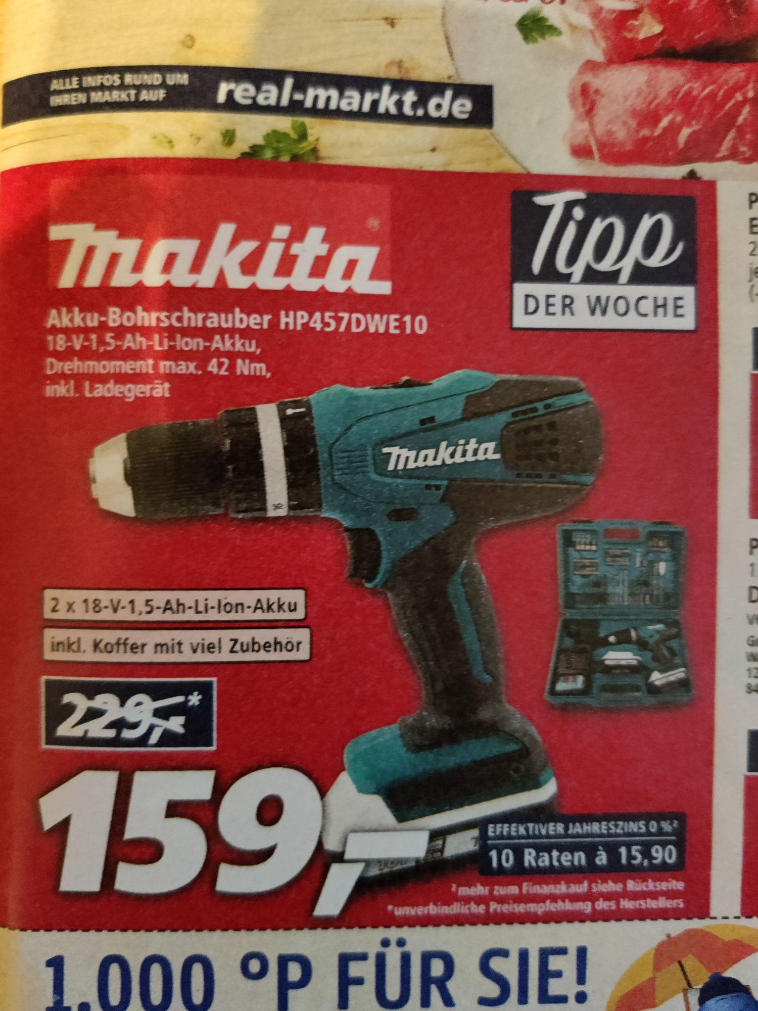 Makita Akku-Bohrschrauber HP457DWE10 (lokal)