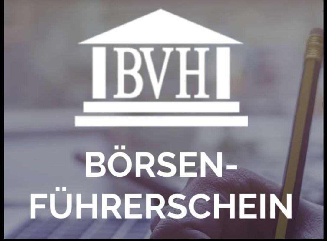 BVH Börsen Führerschein April 2021 4 Webseminare kostenlos und ohne Verpflichtungen.