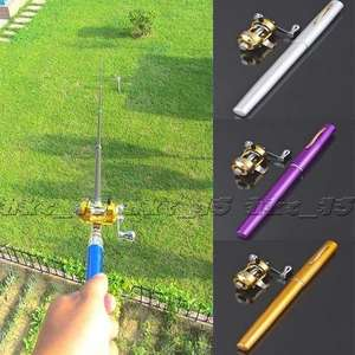 Mini Portable Angelrute in Form eines Kugelschreibers