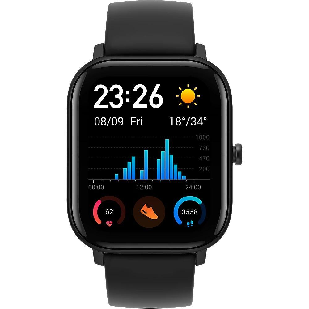 (B-Ware) Amazfit GTS Smartwatch Aluminium-Gehäuse, schwarz, Amoled-Display mit 5 € Newsletter Rabatt 69,89 €