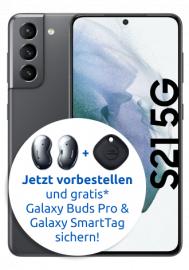 Samsung Galaxy S21 für 103,99€ ZZ im Vodafone Smart XL (20 GB 5G bis 500 MBit/s, Allnet- & SMS-Flat) für 39,99 € monatlich