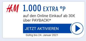 (Personalisiert) H&M 1.000 Payback Punkte (10 €) bei MBW 30€ über Payback App