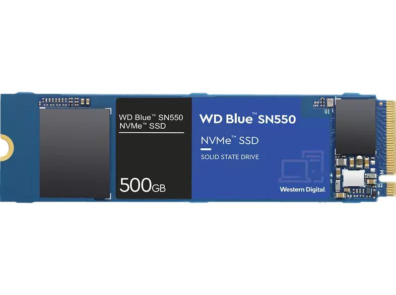[Saturn/Mediamarkt] WD Blue SN550 SSD NVMe WDS500G2B0C 500 GB M.2 (2280) SSD (Solid State Drive) für 54,-€