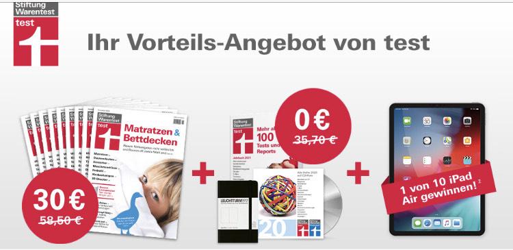 Stiftung Warentest 9 Ausgaben + Jahrbuch 2021 + ArchivCD + Notizbuch