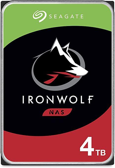 """Seagate Ironwolf 4TB 3,5"""" NAS HDD (CMR, 64MB, 5900rpm, 3 Jahre Garantie) [Mediamarkt]"""