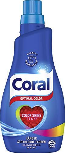 Sparabo: Coral Waschmittel - Color Flüssigwaschmittel - 1,1 l - VK-Frei (Prime)